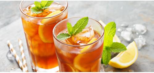 Iced tea in glasses